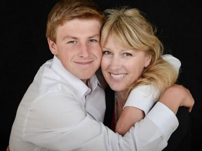 Kim & her son